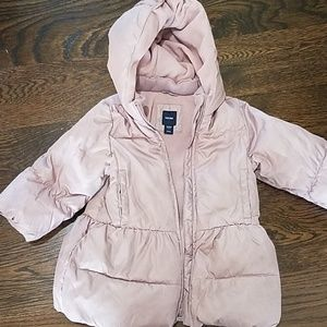 Baby Gap pink puffer jacket. 2 years.